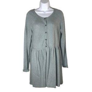 Sundance Sage Green Sweater Dress Button Front M